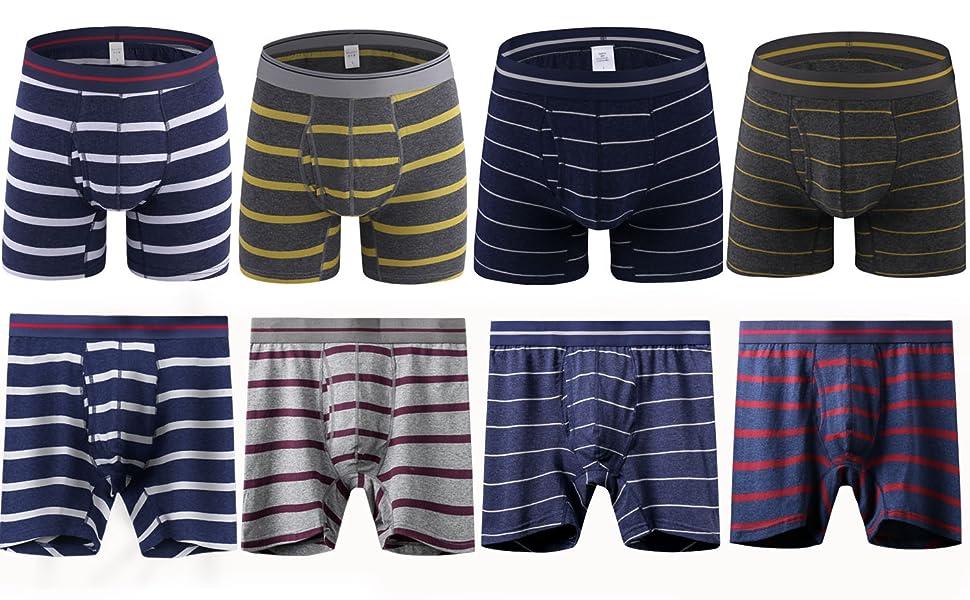 Men's Striped Boxer Briefs