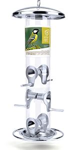 Mangeoire Oiseaux Exterieur 35cm - Distributeur Graines Oiseaux