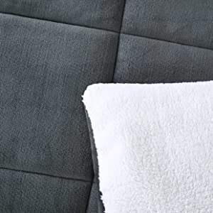 Close up view on detail of comforter
