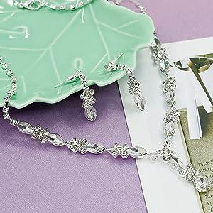 Rhinestone Bridesmaid Jewelry Sets