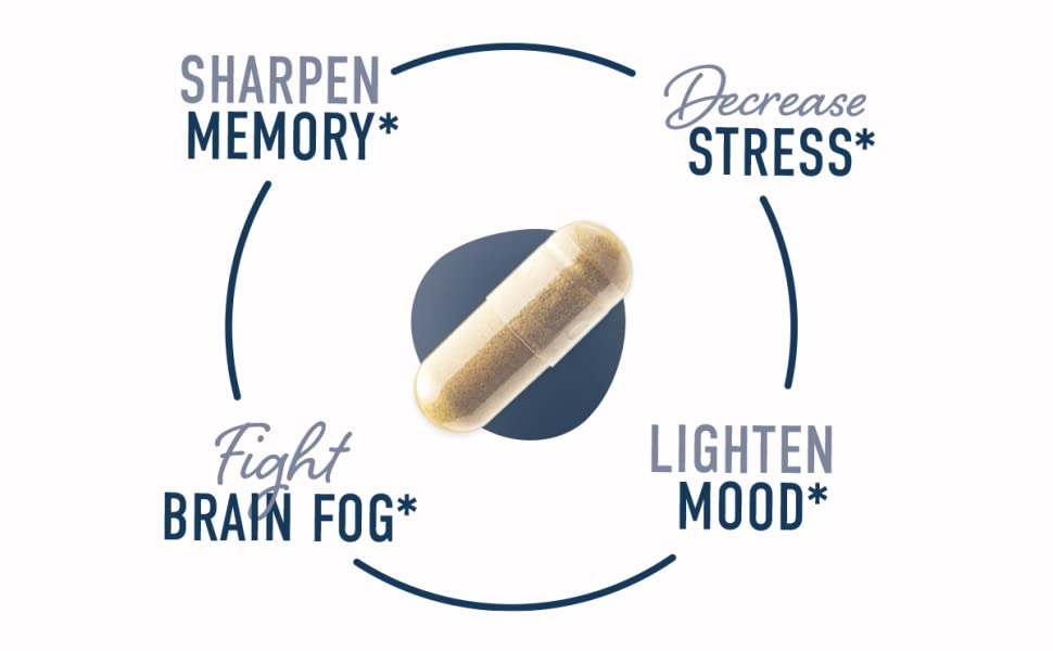 sharpen memory decrease stress fight brain fog lighen mood
