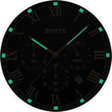 mens watch with glow hours
