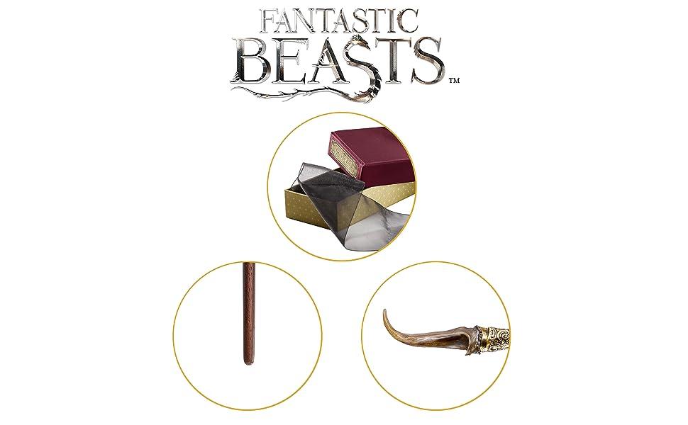 La colección Noble Bestias fantásticas Nicolas Flamel Wand