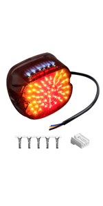 Harley Smoked LED Tail Light Brake Light Integrated with Turn Signals License Plate Light