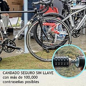 Looxmeer Candado de Bicicleta Candado de Cadena, Candado de ...