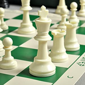 Quiver Chess Set Combination - Green - Triple Weighted