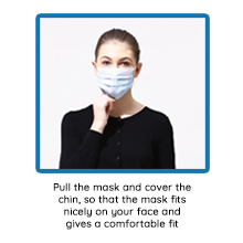 Pull mask below chin