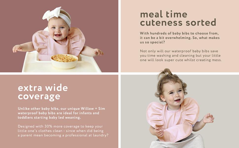 Toddler feeding bib save mess extra coverage
