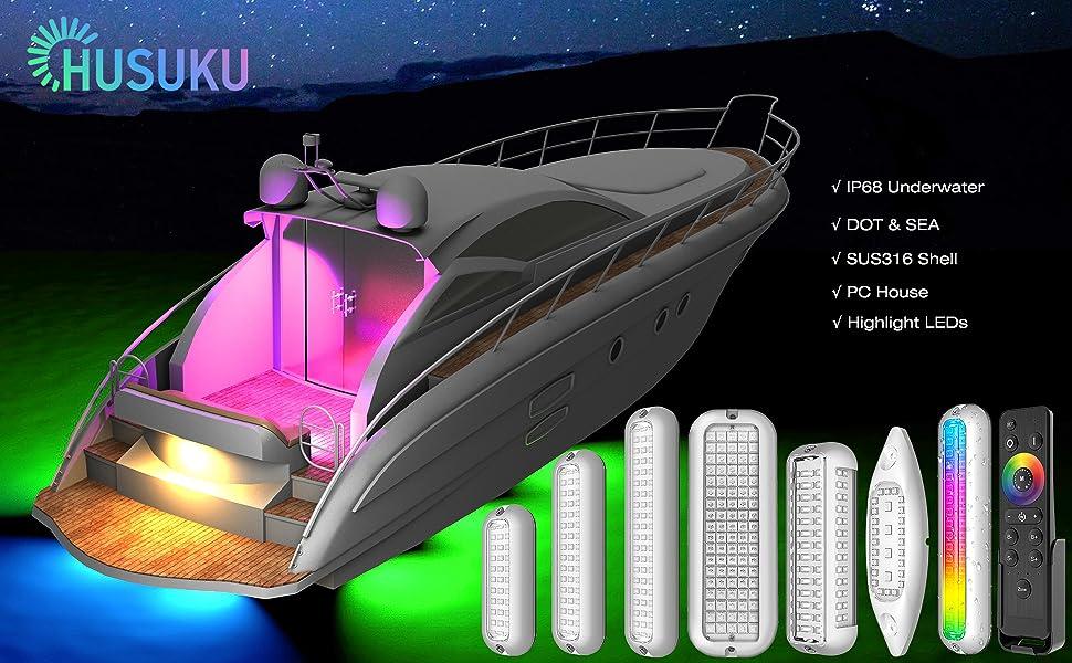 Transom Mount boat lights accessories Interior cabin marine led lights for boat marina rear lighting