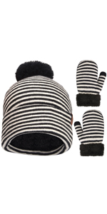 toddler hat and mittens set