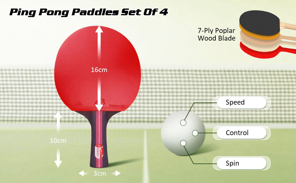 portable table tennis set with retractable net  table tennis racket table tennis paddles set balls