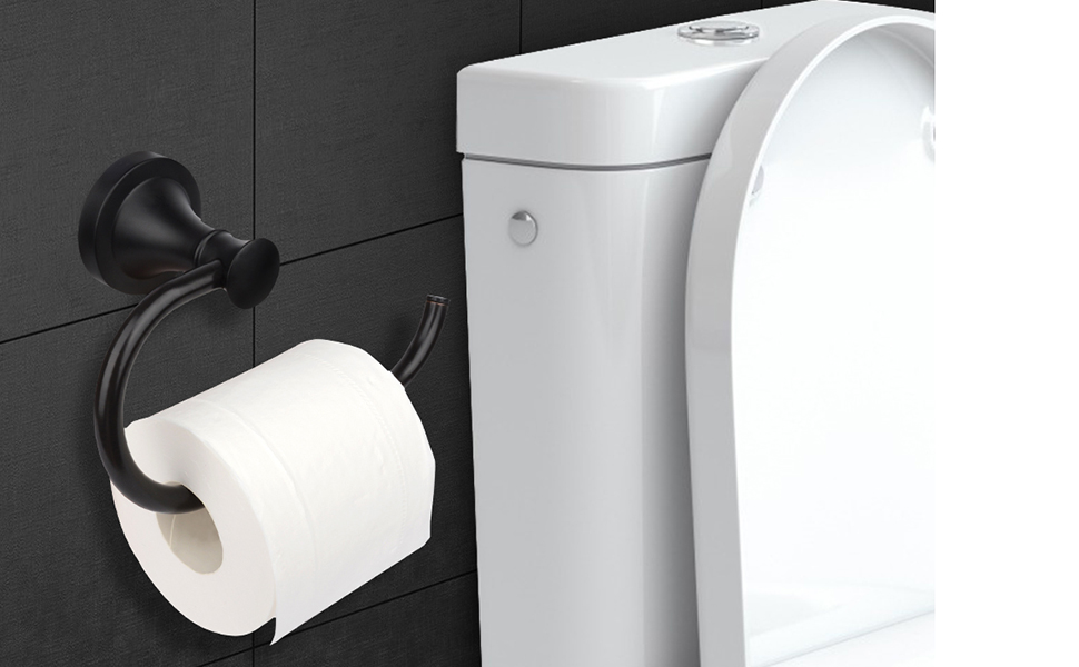 black toilet paper holder