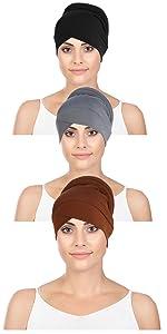 Asudaro Mujeres Turbante Sombrero Estiramiento Quimioterapia C/áncer Gorra P/érdida de Cabello Gorro Nudo Gorro Hijab Gorra Musulmana India Gorra Desgaste de la Cabeza Cubierta de la Cabeza