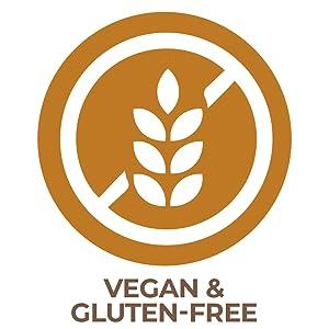 vegan and gluten-free formulation