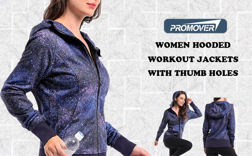 Women Long Sleeve Print Gym Sports Hooded Sweat Hoodies Sweatshirt