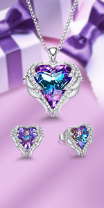 rose necklace jewelry set