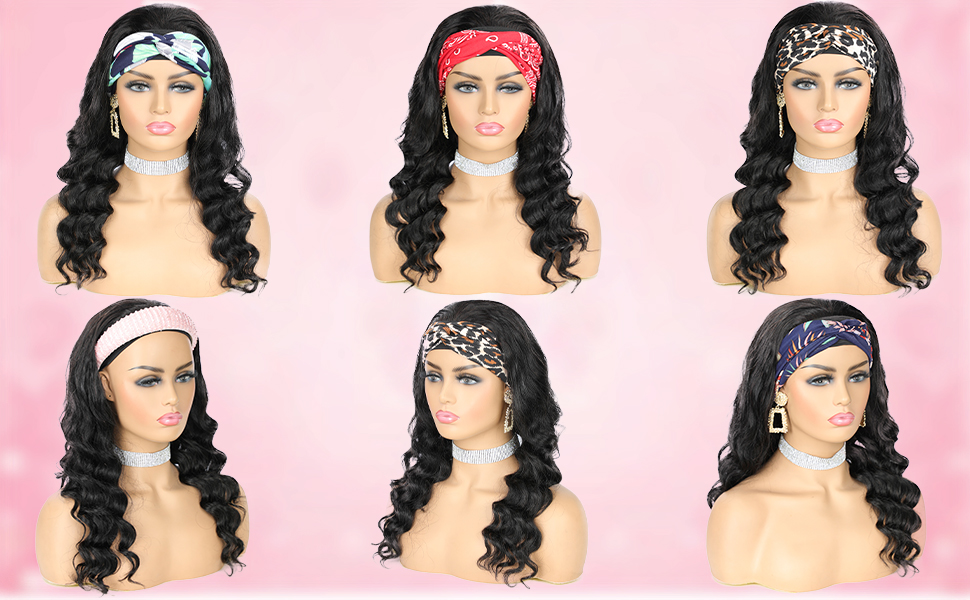 curly wig with headband