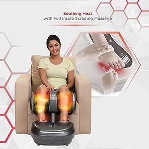 leg foot massager with heat