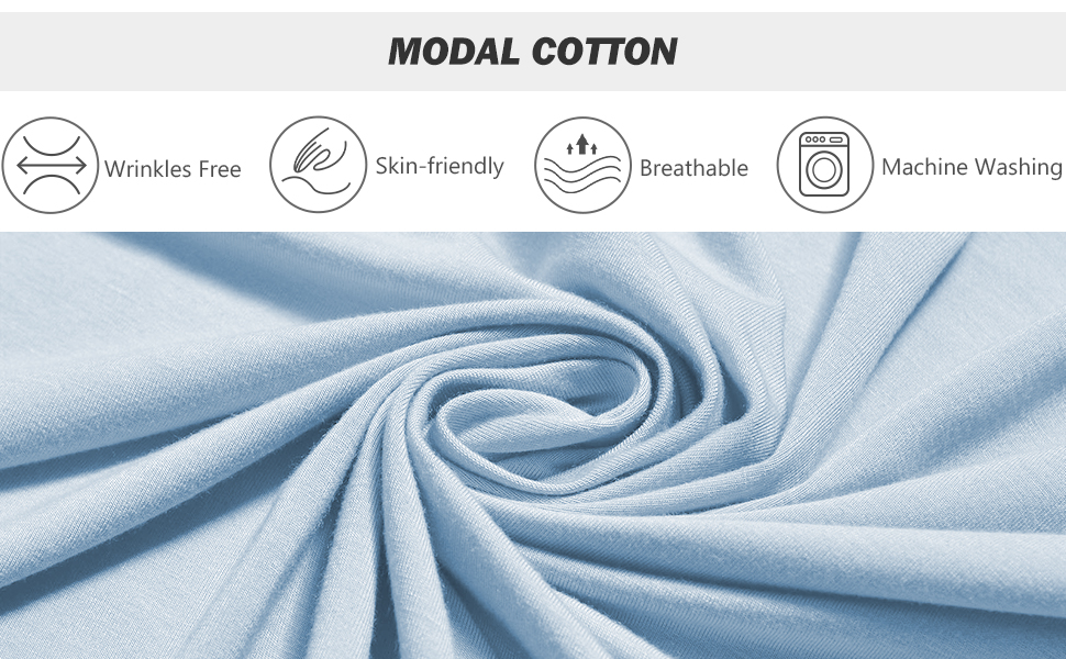 Soft Modal Cotton Womens Pajama Sets No Clingy No See-through Fabric