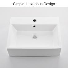 rectangle vessel sink