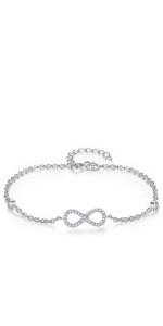 S925 infinity bracelet for women
