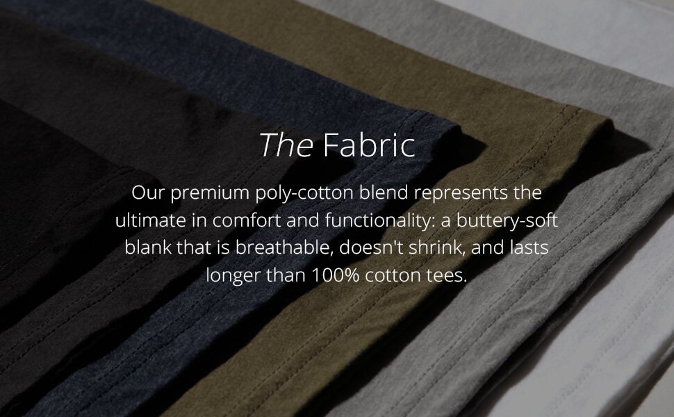 INTO THE AM men's basic tees premium poly cotton blend fabric ultimate comfort buttery soft