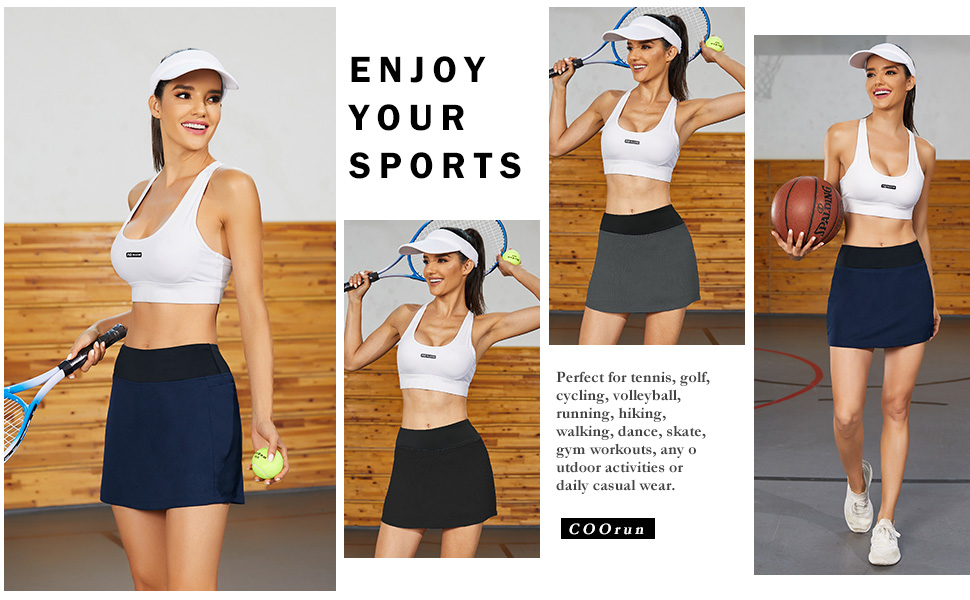 Above the knee length golf skorts for women