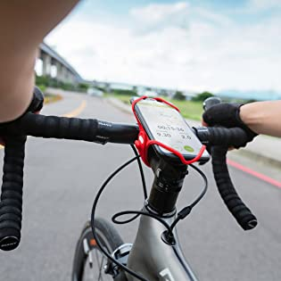 Holder Ultralight Bike Tie Pro Pack Black Face ID Compatible Bicycle Mobile Phone Holder for Stem 4-6.5 Inch Smartphones not Included Bone Collection 2-in-1 Smartphone and Power Bank