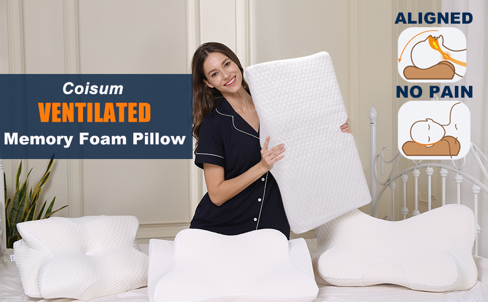 Coisum Ventilated Memory Foam Pillow