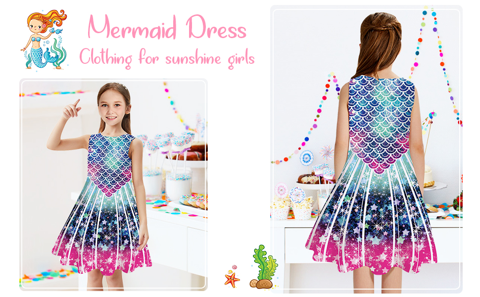 mermaid dress for girls
