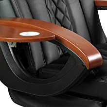 Armrests are more streamlined and tapered to give it a modern flare and reduce bulkiness.