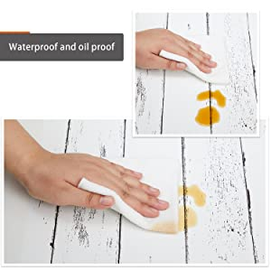 Wood Wallpaper Peel and Stick Wallpaper Self-Adhesive Removable Wallpaper White Wall Decor