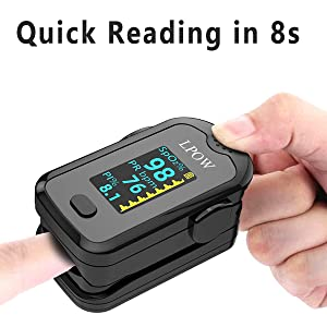 8s  Pulse Oximeter Fingertip, Blood Oxygen Saturation Monitor for Pulse Rate, Heart Rate Monitor and SpO2 Levels with LED Screen Display Batteries and Lanyard Included 3d2cdbe7 5bbe 4801 b17e 9a2c4a9b4c9c