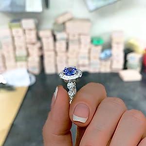 Mauli Engagement bridal set Rings