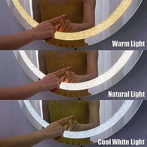 3 Different Light Temperatures Setting