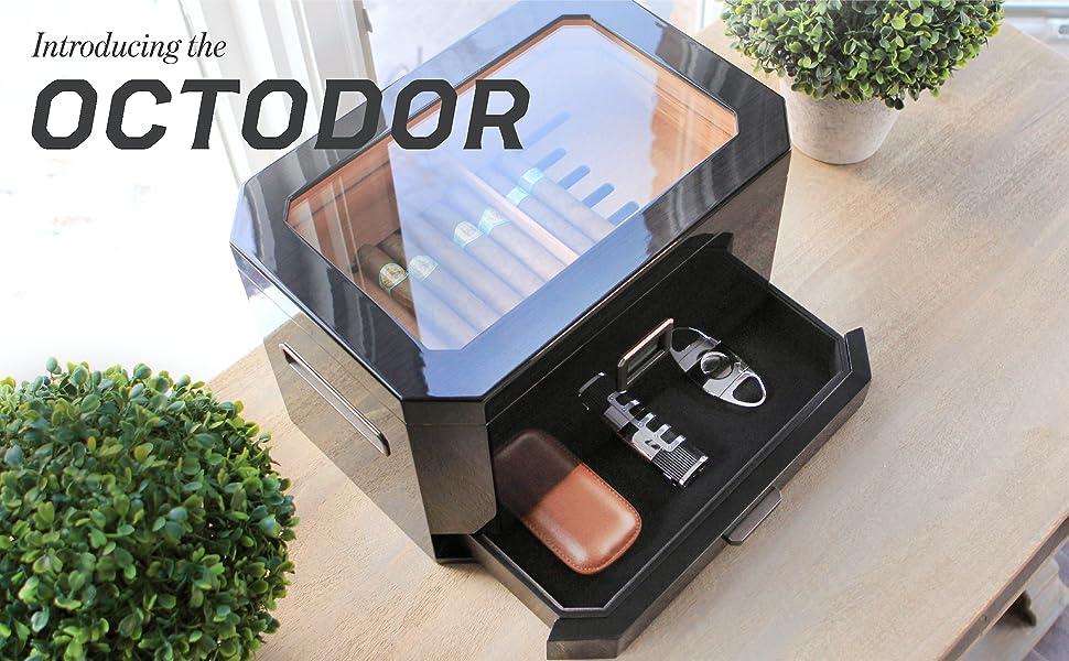 Humidor cigar 25 50 100 sealed humidity box empty wooden candor electronic digital hygrometer