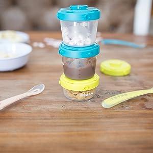 Cuchara de beb/é cuchara de alimentaci/ón cuchara de pur/é de silicona cuchara de silicona suave para beb/és ni/ños cubiertos de animales multicolores comida complementaria cuchara de pur/é para ni/ños