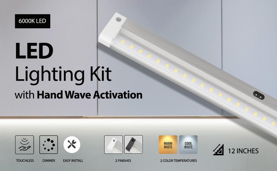 Silver 20 LED Light Bar Battery Operated 9888 Motion Sensing Light Bar