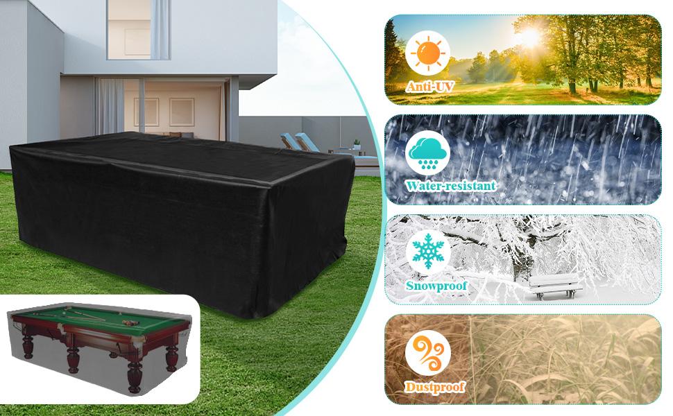 anti-uv billiard table cover waterproof dustproof snowproof