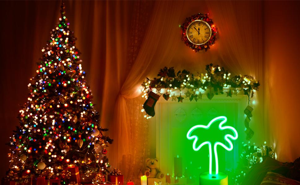 Green LED light coconut tree neon lights LED neon light neon signs