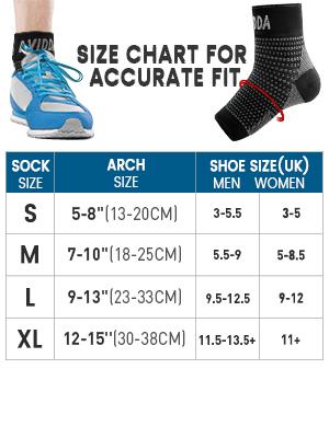 ankle brace size chart
