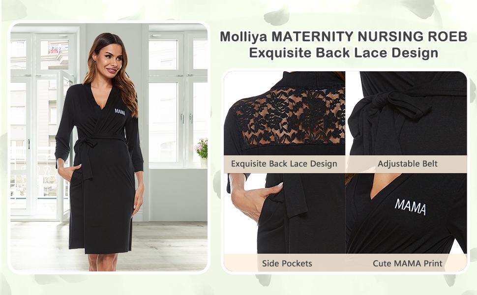 maternity nursing robe pregnancy sleepwear