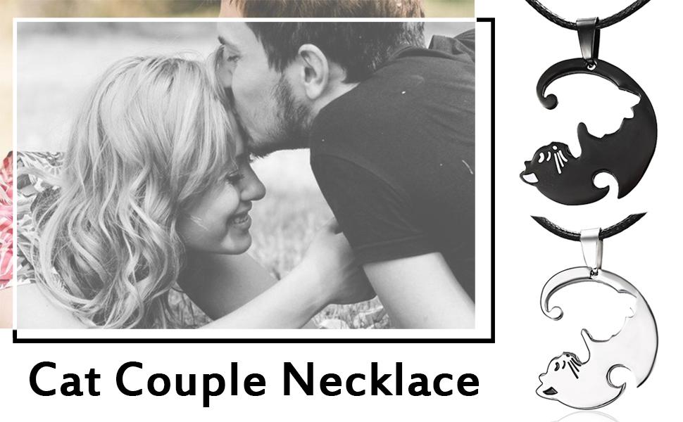 cat couple necklace
