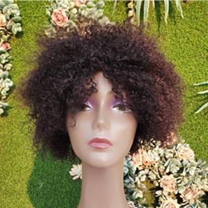 queentas afro wig in the sun