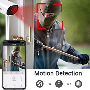 motion detection outdoor security camera