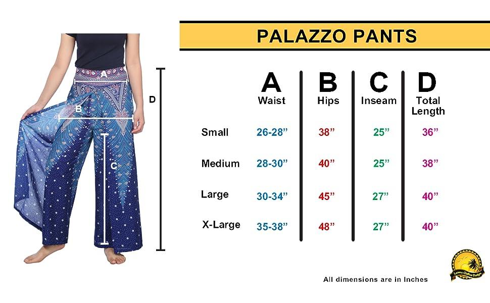 Amazon Com Lannaclothesdesign Palazzo Pantalones Para Mujer Talla S M L Xl Clothing