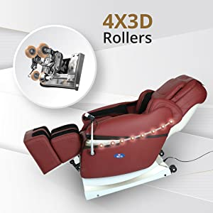 massage chair with 3d rollers