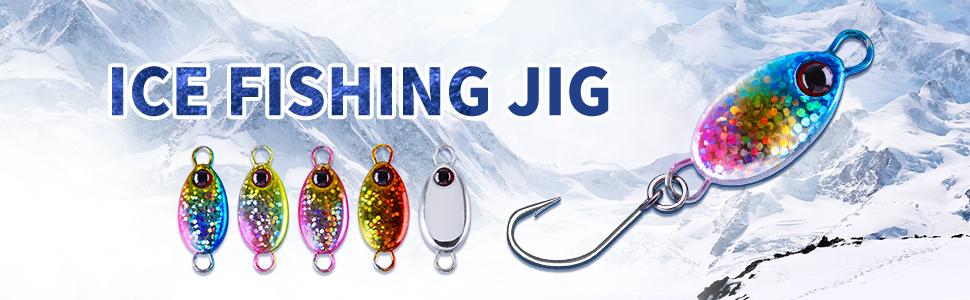 2pcs Mini Jigs 3.2g 5.3g Metal Spoon Fishing Lures Hard Bait Hook Bass Trout