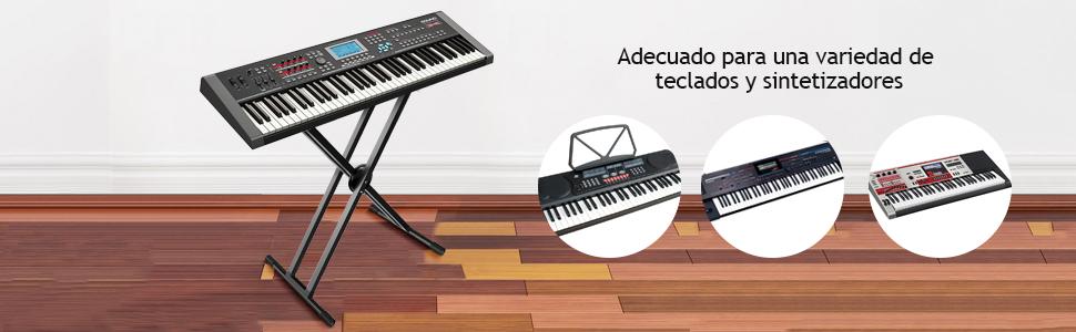 MARTISAN Soporte de teclado Patas Perfil Doble altura ...