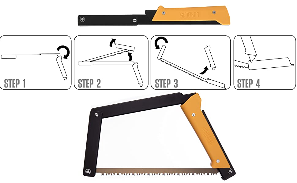 folding saw opens in seconds